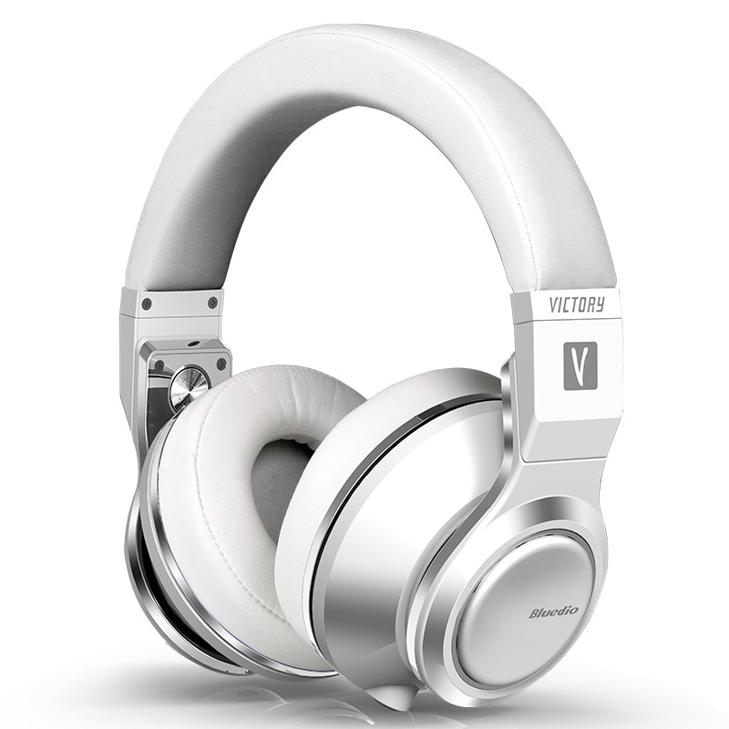 2017 Original Bluedio V (Victory) Wireless Bluetooth Headphones with PPS 12 drivers and microphone supports APTX Headset(White)