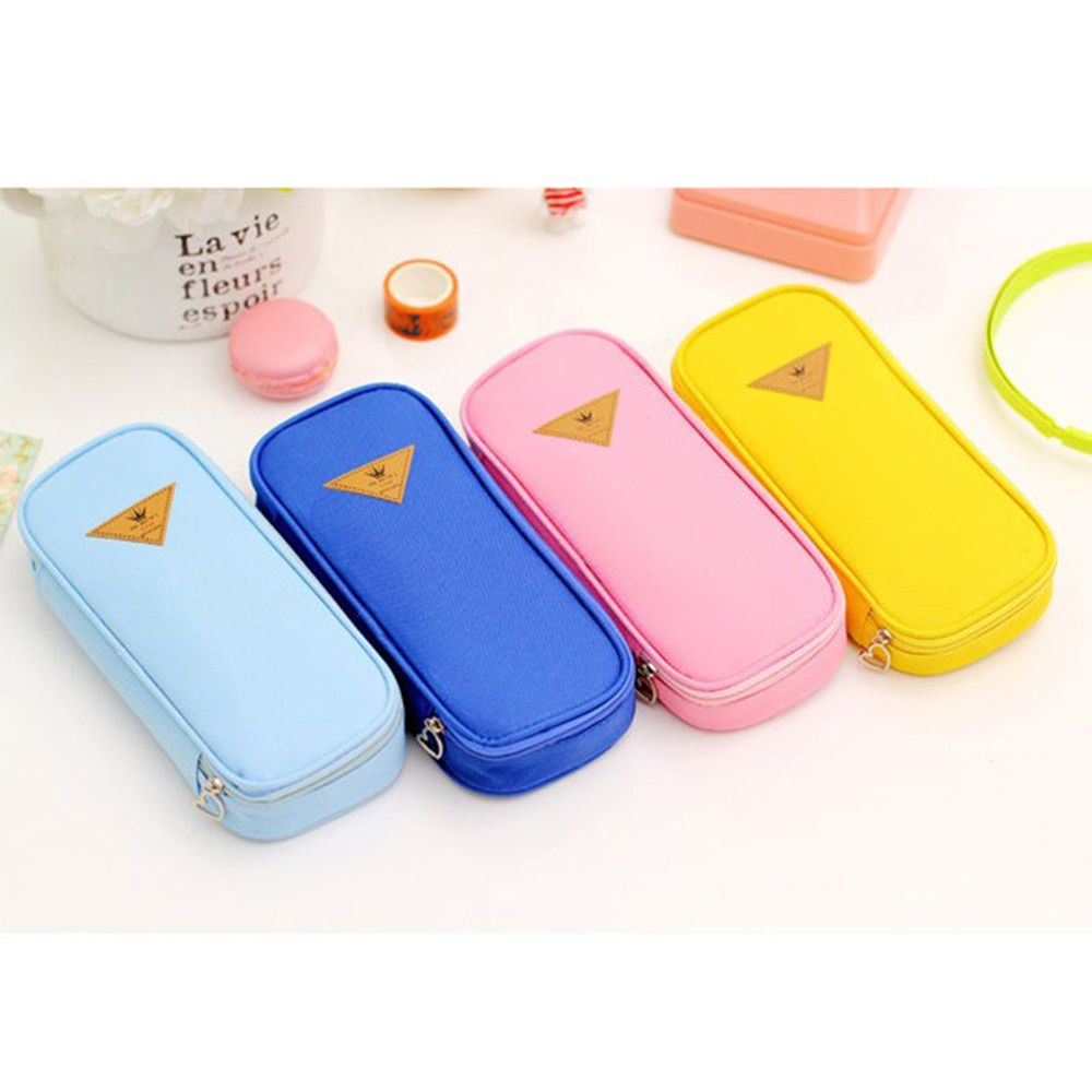Limit Shows Creative Canvas Pencil Case Large Capacity Pen Box Stationery Pouch Makeup Cosmetic Bag Kawai Pencil Case  Hot