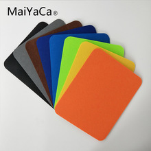 MaiYaCa New Felt cloth Hot selling New 240*200*3mm Universal Mouse Pad Mat for Laptop Computer Tablet PC 20piece 100% new axp209 qfn48 tablet laptop chips
