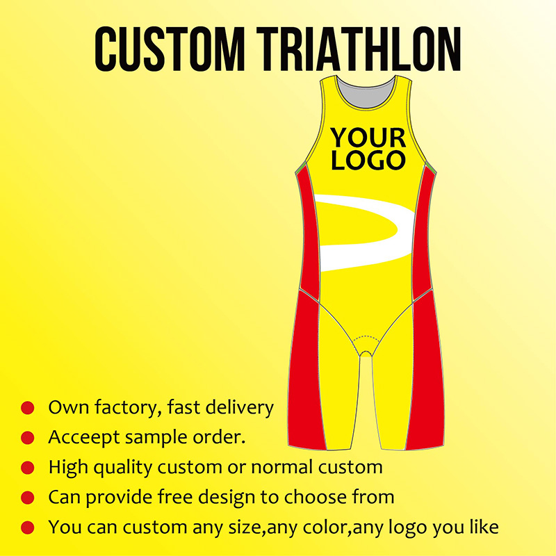 Custom Triathlon jersey Cycling Run Swim Clothing High elasticity Breathable Windproof Factory price Customize High Quality