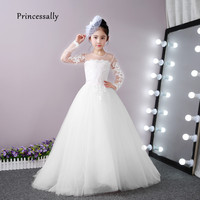 Flower girl dresses shop cheap flower girl dresses from china high quality white flower girl dresses for weddings lace long sleeve with small train prom party mightylinksfo