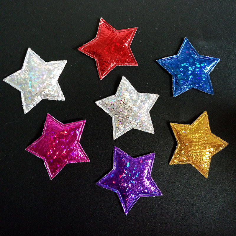 50pcs lot merry christmas decoration for home star for Applique decoration