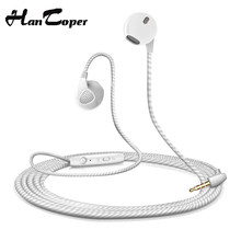 New Earphone For iPhone 6 6S 5S Headphones With Microphone 3.5mm Jack Bass in Ear fone de ouvido auricuares Headset For Xiaomi(China)