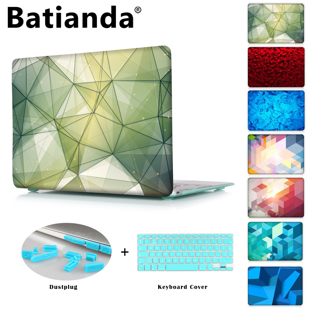 Crystal Case For Apple macbook Air Pro Retina 11 12 13 15 Laptop Bag  For macbook pro 13