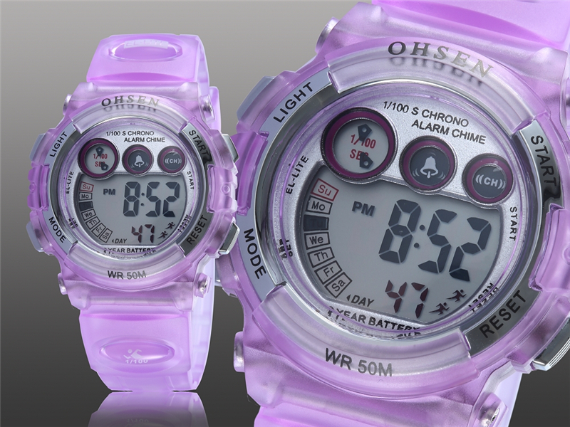 OHSEN Fashion Children Sports Watches Waterproof 5ATM Kids LED Digital Watch Student Outdoor Hand Electronic Clock Montre Femme (17)