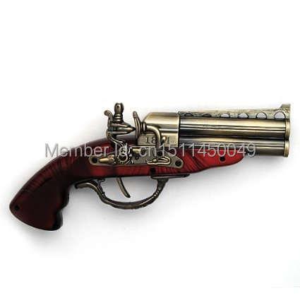 Style Collectable Roer 1881 Double Brass Barrel Derringer Flintstock