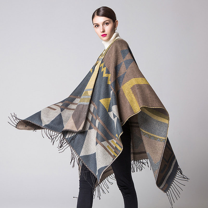 Brand Women Blanket Poncho Scarf Fashion Cashmere Wool Scarf Cape Winter bufanda manta font b Tartan