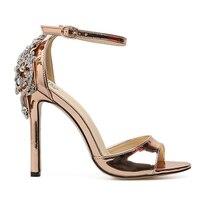 Women High Heels Sandals Spring Crystal Glitter High Heel Shoes