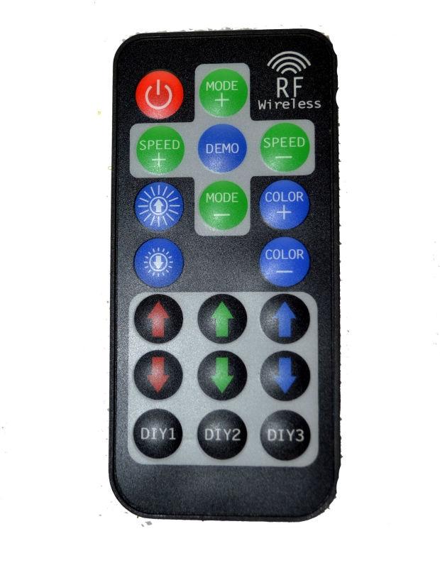 Mini RF Wireless RGB Remote Controller DIY Memory Save 12A Black For Rgb Led Strip DC 12V-24V CE&ROHS By DHL 50pcs