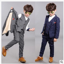 Boys Blazer Suits for Weddings Boy for Weddings Child Suit Costume Girl Formal Garcon Mariage Blazer Vest Blazer Pants 3 Piece