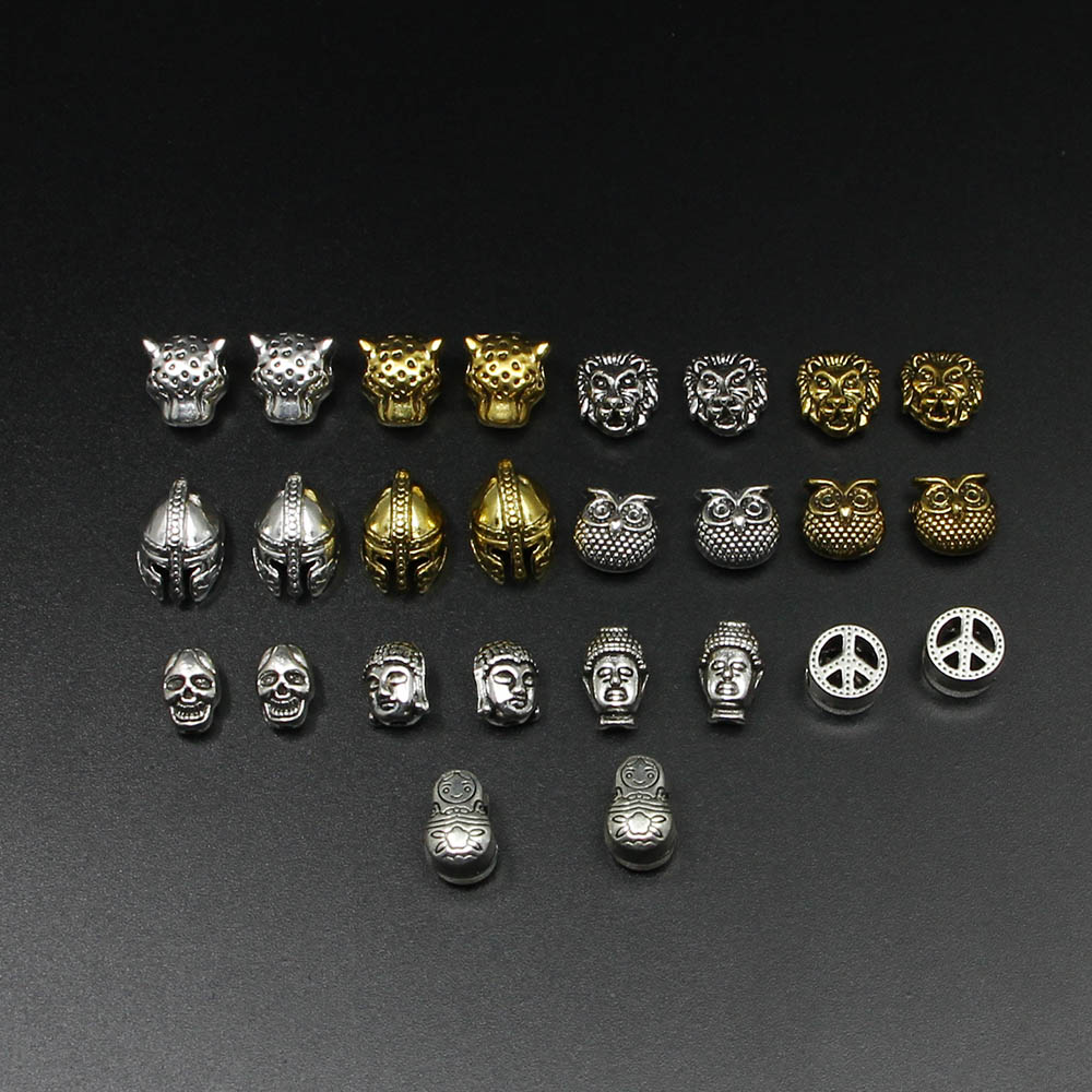 Unparteiisch 10 Teile/los Gold Silber Charme Perlen Buddha Sparta Leopard Lion Heads Spacer Perlen Liefert Für Schmuck Finding Herstellung Diy Armband Perlen Schmuck & Zubehör