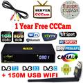 V8 Supper Satellite Receiver HD DVB-T2 DVB-S2 With Cccam 3 Clines For 1 Year Amlogic S805 Android 4.4 Tv Box Europe Ccam Server