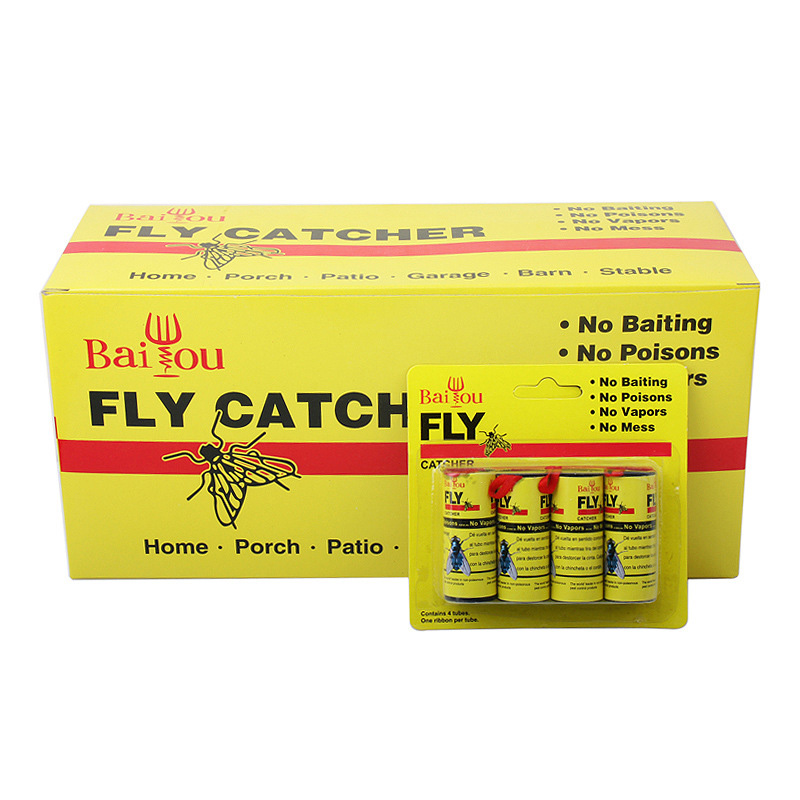 Hot 4/8/12/16Pcs Fly Sticky Paper Strip Strong Glue Flying Insect Bug Mosquitos Catcher Roll Tape FQ-ingHot 4/8/12/16Pcs Fly Sticky Paper Strip Strong Glue Flying Insect Bug Mosquitos Catcher Roll Tape FQ-ing
