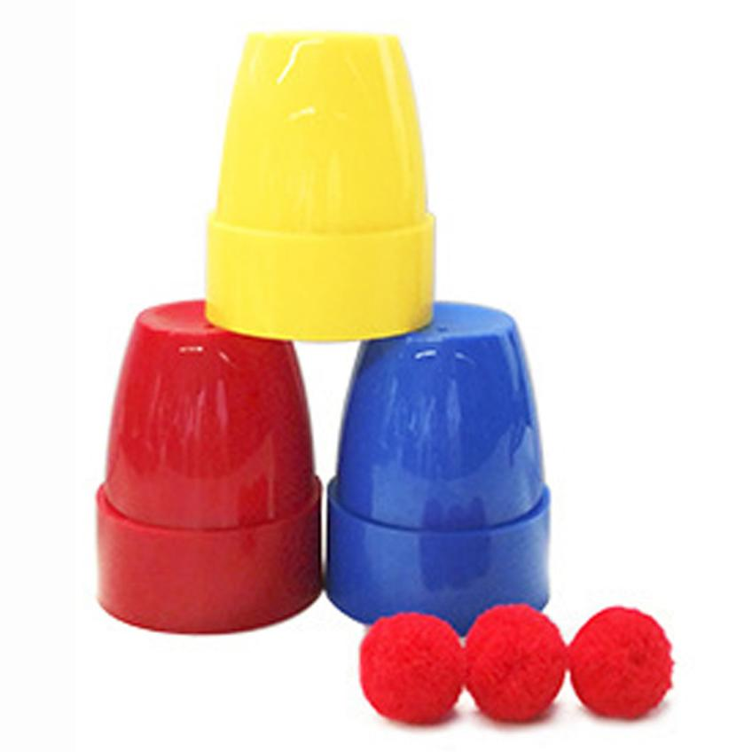 Education Plastic Magic Cup Ball Stage Magic Tricks Props Toys For Child Intelligence Exercise Funny Games Toy For Cherryb