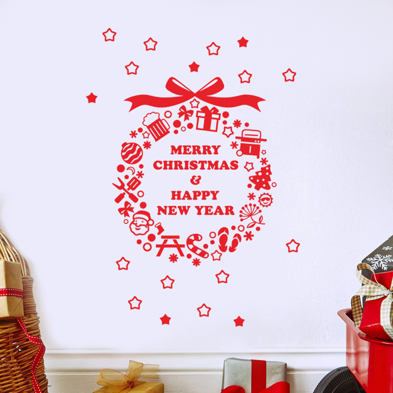Christmas Ball Wall Decor : Christmas ball wall sticker decal mural home window xmas