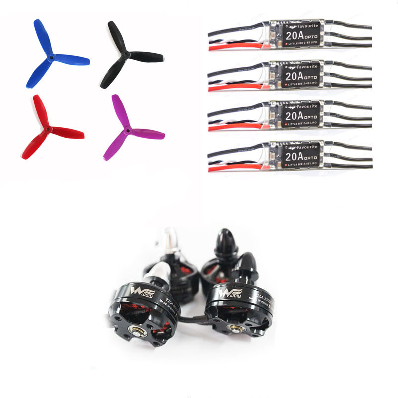 Wdiy motor2204 2300Kv QAV-X QAV210  4S power kit  brushless motor Little bee 20A ESC 5045 for DIY mini racing drone quadcopter wdiy motor2204 2300kv qav x qav210  4s