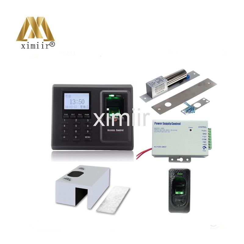 F2 fingerprint access control , 12V3A power supply, electric lock,bracket , FR1200 fingerprint reader access control system