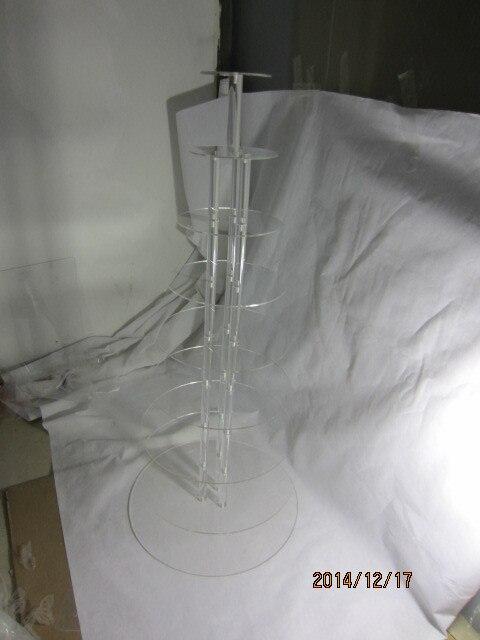 Бесплатная доставка 8 уровня торт лоток yakeli рамка Многослойные акрилового торта стоять десерт лоток
