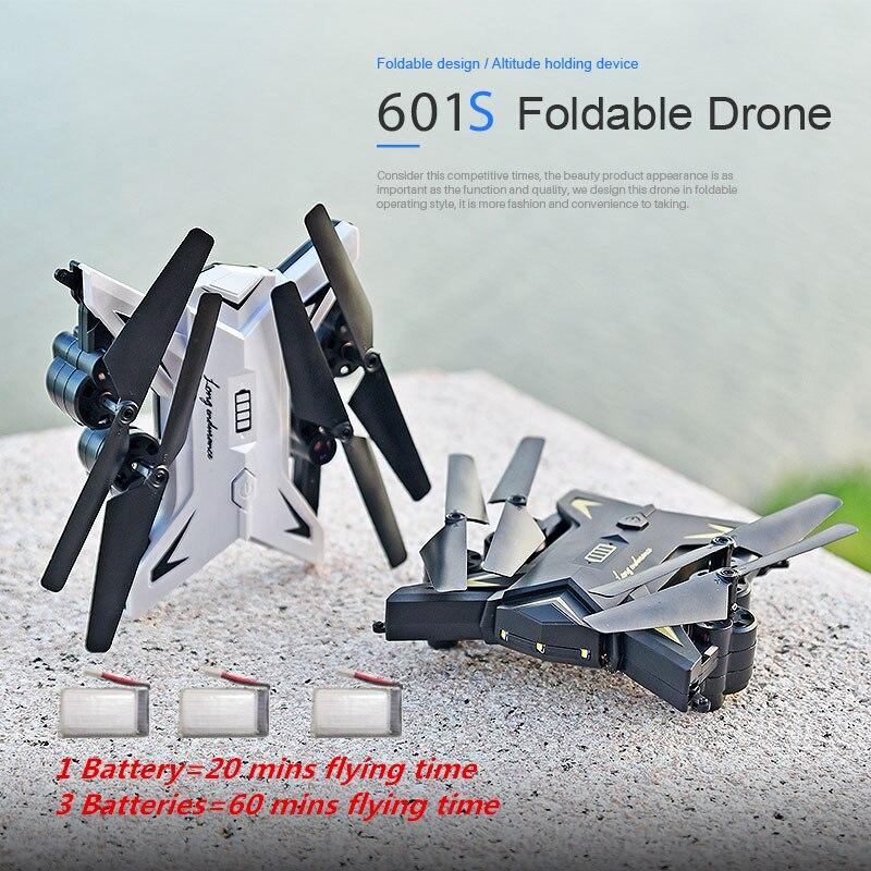 KY601S RC Droni Con 1080 p Della Macchina Fotografica FPV Selfie Drone 18 min Fly Volte Profissional Pieghevole Quadcopter Quadrocopter VS E58 xs809s