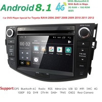 4QuadCore 1024*600 HD Screen 2 Din Android 8.1 Car DVD for Toyota Rav 4 RAV4 Audio Video Stereo GPS Navigation Radio RDS 4G Wifi