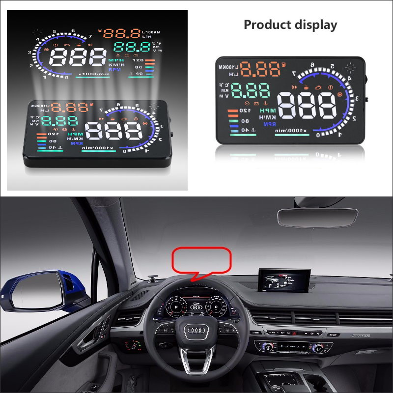 car hud head up display for audi a3 a4 a5 a6 a7 2015 2016. Black Bedroom Furniture Sets. Home Design Ideas