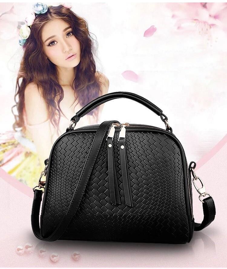 2015 Autumn New Arrival Women Weave Tassel Women PU Leather Handbags Women Shoulder Bag Ladies Casual Messenger Bags BH1150 (1)