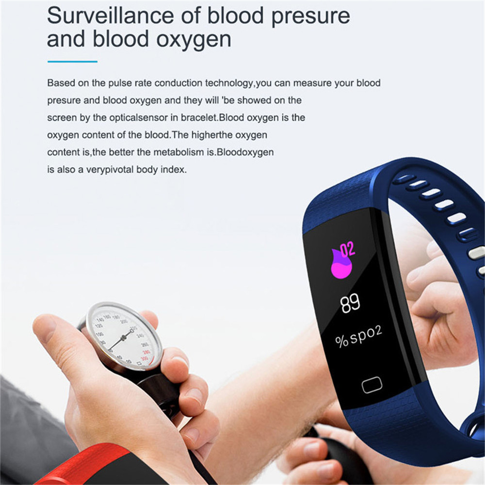 Image 4 - 115 Plus Smart Watch Bracelet Health Heart Rate Blood Pressure Fitness Tracker Wristband Monitor Sport band for ios android-in Smart Wristbands from Consumer Electronics