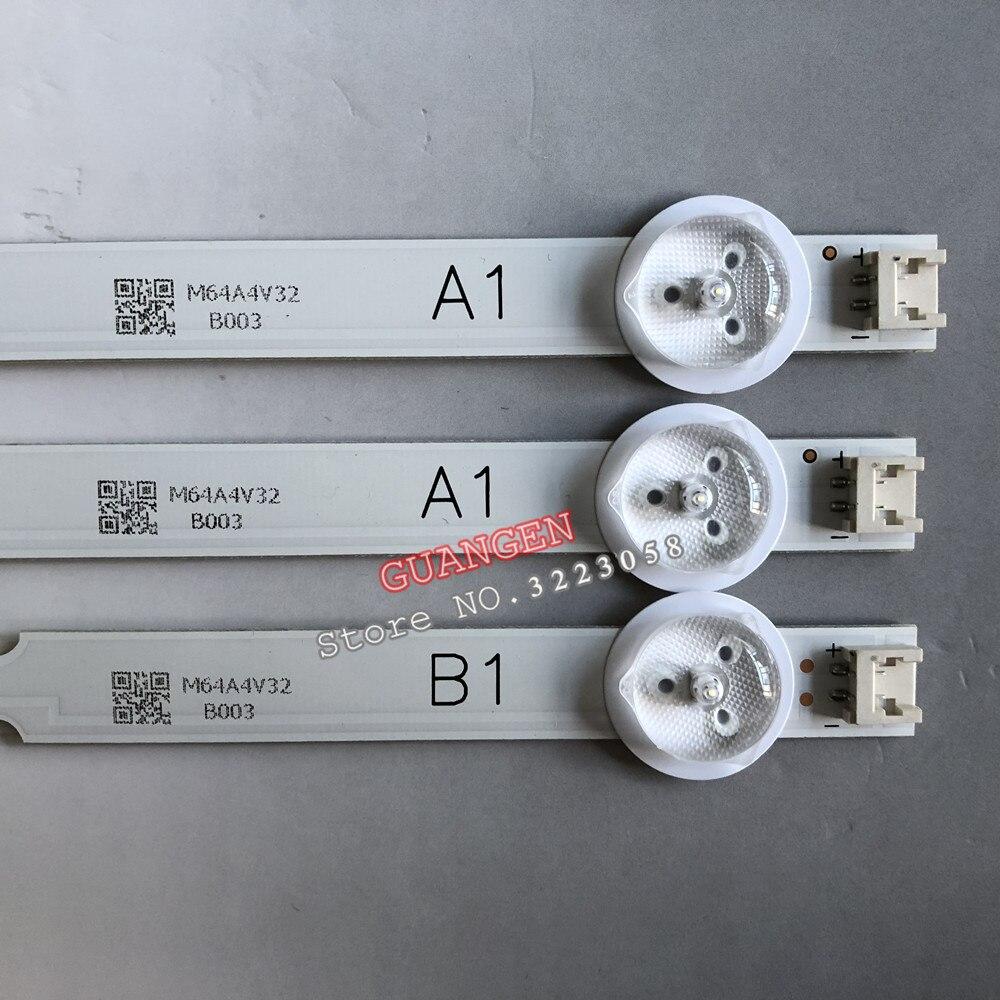 3 peças 7LED Backlight Tira Lâmpada para LG TV 32ln541v 32 32LN540V A1 B1-Type 6916L-1437A 6916L-1438A 6916L-1204A 6916L-1426A 63cm