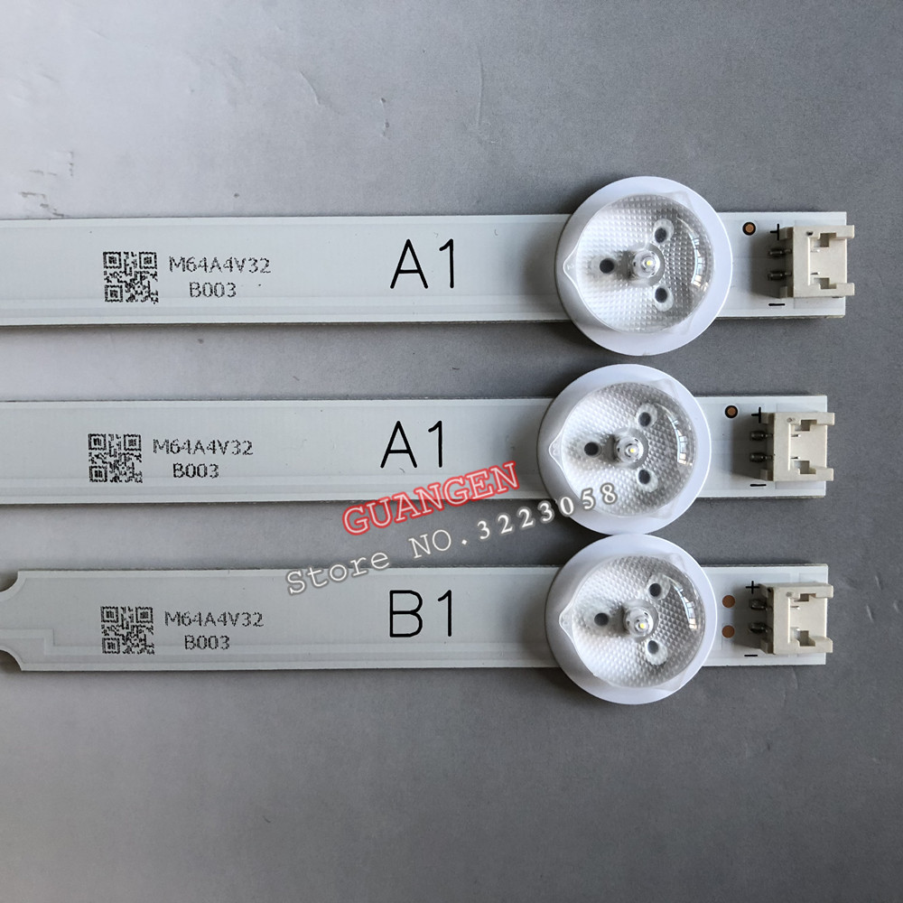 3pieces 7LED Backlight Lamp Strip For LG 32 TV 32ln541v 32LN540V A1 B1-Type 6916L-1437A 6916L-1438A 6916L-1204A 6916L-1426A 63cm