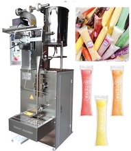 Stick Packaging Filling Sealing Ice Pop Candy 3 Sides Sealing Honey Ice Lolly Packing Machine liquid ice lolly sealing packaging machinery fruit juice jelly stick bar sachet filling packing