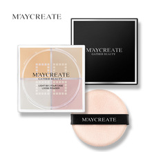 MayCreat Pressed Makeup Powder Concealer Cream Face Base Foundation Makeup Set Smooth Oil Control Lasting Waterproof Cosmetics