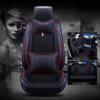 Good quality! Full set car seat covers for Toyota Land Cruiser Prado 150 5 seats 2018 2010 breathable durable seat covers