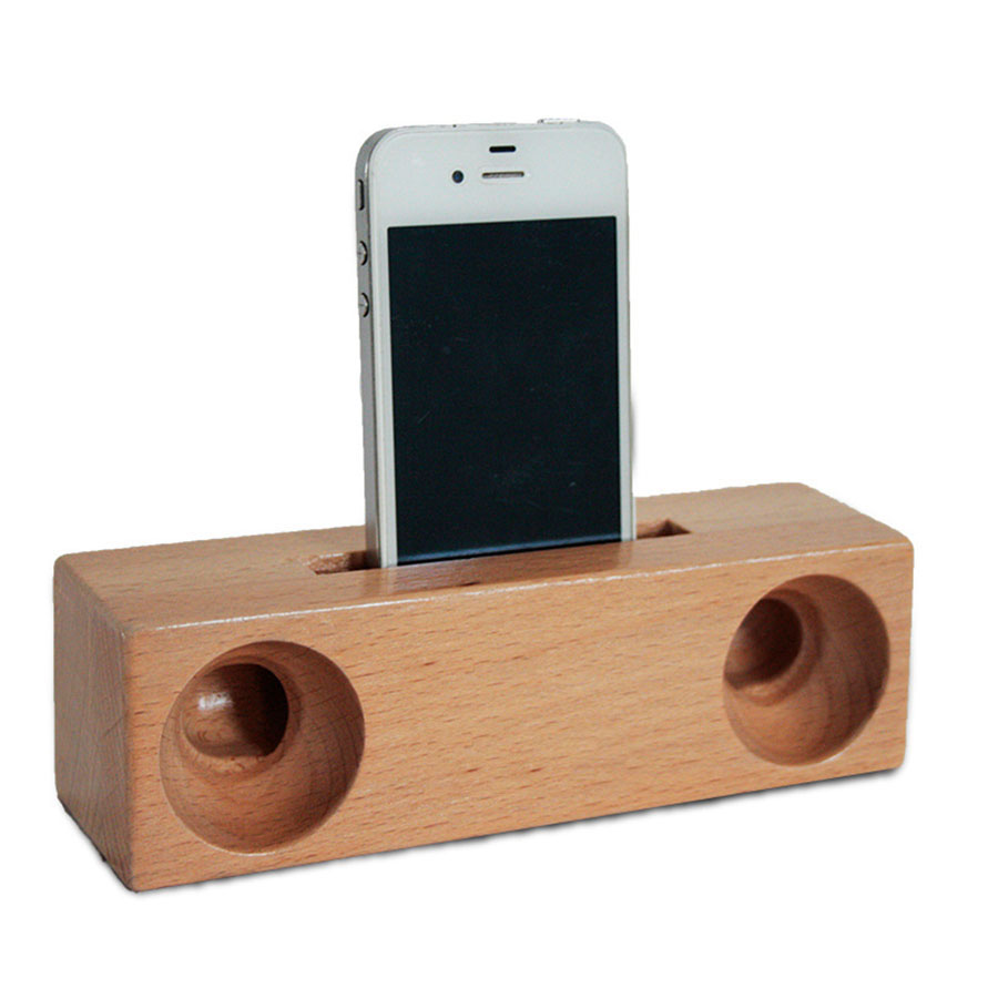 Us 26 19 12 Off Wood Phone Holder With Loudspeaker Stand Nature Design Universal Mount For Iphone Samsung Htc Xiaomi 2 In 1 Multifunctional In Phone
