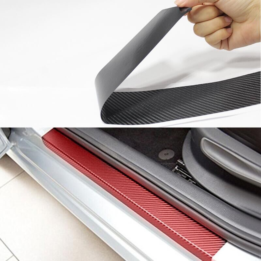 Car Door Sill Welcome Pedal Stickers For Mitsubishi OUTLANDER LANCER MIRAGE L200 G4 4pcs Car Accessories Candy Color Car-Styling воздухозаборник mmd355556 e1t42171 mitsubishi mirage mitsubishi