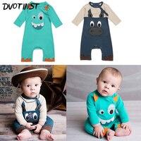 Babyspielanzug Herbst Frühling Langen Ärmeln Monster Esel Outfits Kids Infant Toddler Overall Kleidung Baumwolle Kostüm