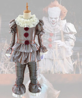 Halloween Movie Stephen King IT The Clown Pennywise Halloween Cosplay Costume Fancy Silver Outfit S XXXL