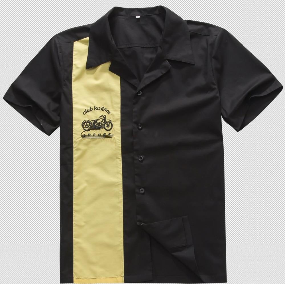 2018 west Neuen Stil Kleidung Online männer Kontrast Farben Gelb Schwarz  Vintage Rock 40er 50er Cowboy 9ba5631749c