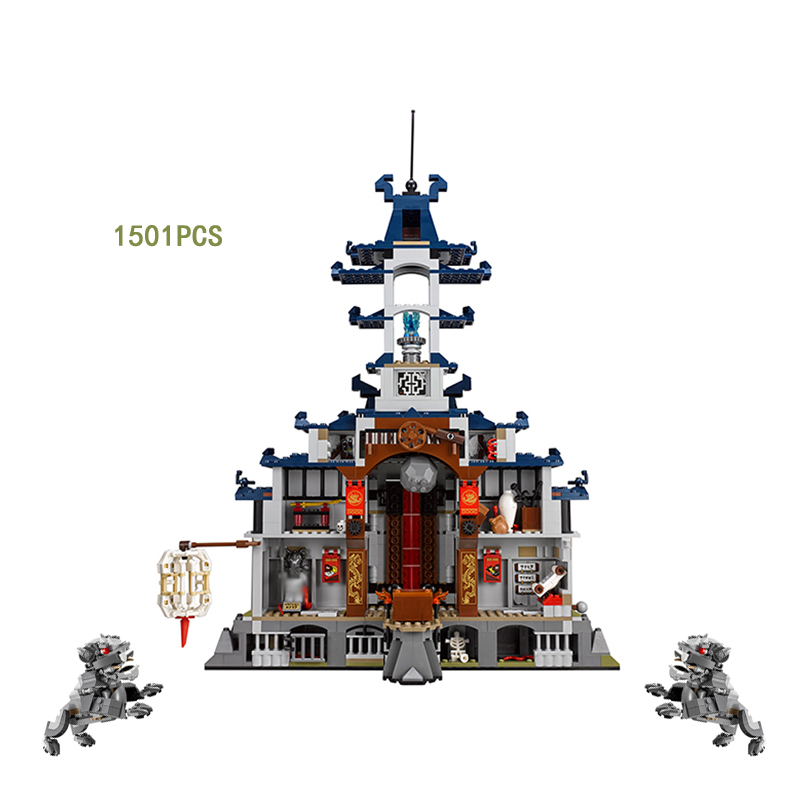 цены 2018 Ninja Temple of The Ultimate Weapon Lepins Building Block Nya Kai Zane Cole Llolyd Jay GARMADON Figures Bricks Toys