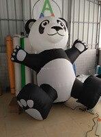 2 m H super gigante adorável Panda inflável para a decoração e promoção