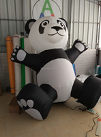 2m H super giant lovely inflatable Panda for decoration and promotion