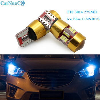 2pcs T10 3014 27SMD W5W Canbus LED Wedge Lamp Auto License Plate Light Clearance Car light For BMW 3 5 7 Series E32 E34 E36 E38 image