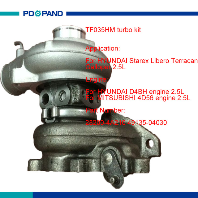 US $136 43 11% OFF|TF035 TF035HM turbo part turbolader compressor 28200  4A210 49135 04030 for HYUNDAI D4BH MITSUBISHI 4D56 4D56A Diesel engine-in