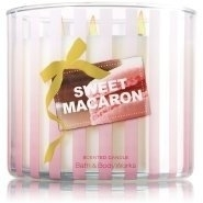 Bath and Body Works Sweet Macaron 3 Wick Candle 14.5 Ounce