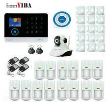 SmartYIBA Wireless Home Alarm Security Burglar System 3G WCDMA WIFI Sheild Host Video IP Camera Android IOS APP Remote Control
