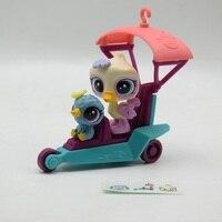 Loja de Brinquedos LPS Bonito Da Tartaruga coelho Triciclo LPS Figura de Ação DO PVC Brinquedos para As Crianças de Aniversário/Presente de Natal