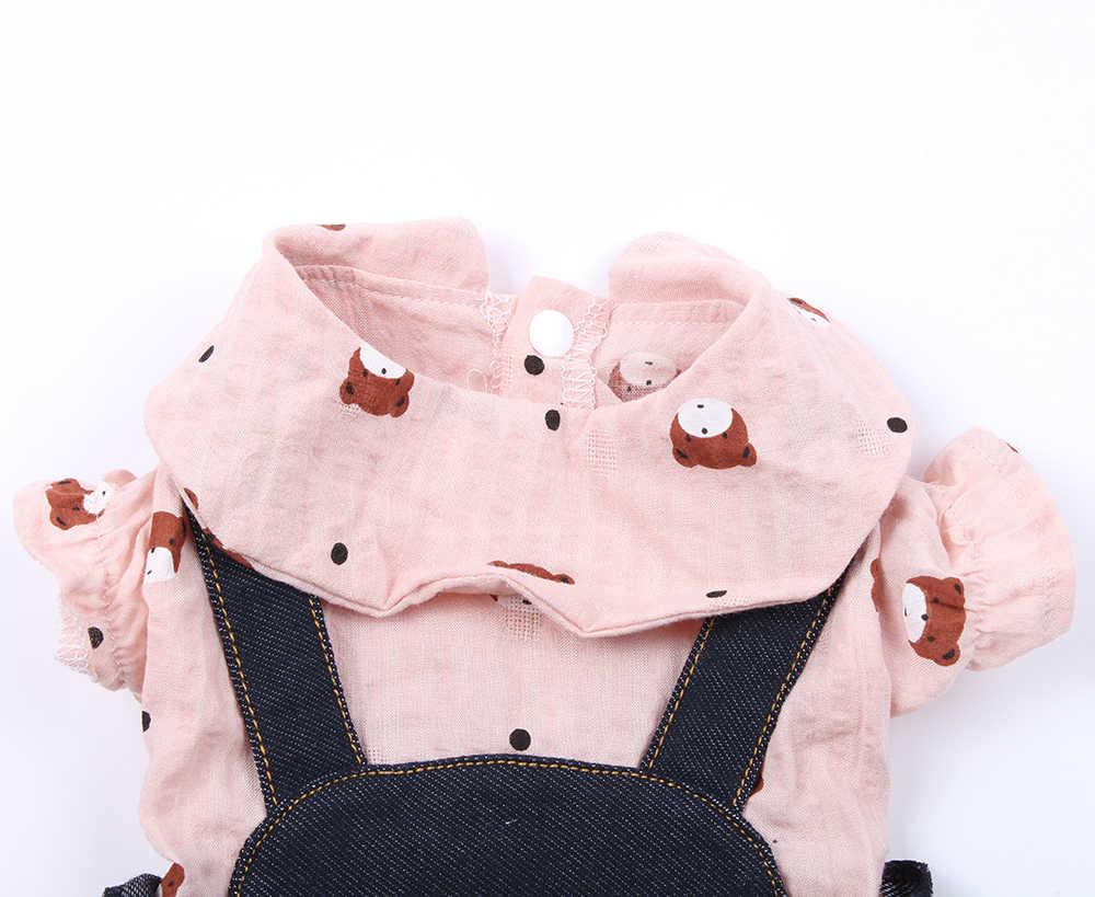 Новая одежда для собак и домашних животных, футболка с медведями, цветочный дизайн, футболка со щенком, весенне-летняя одежда