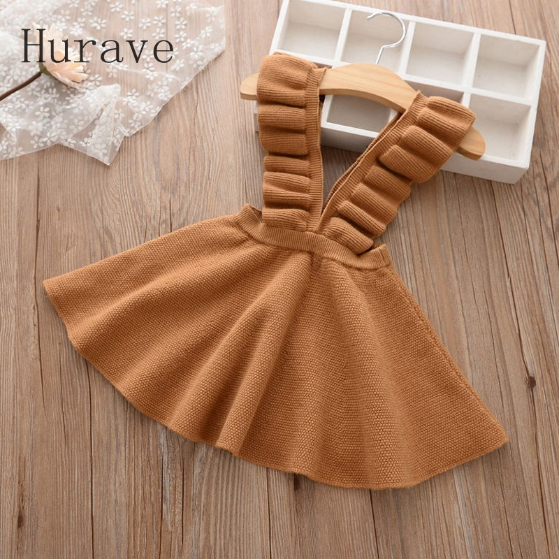 Hurave-Autumn-2017-girls-dress-girl-clothing-Knit-Sweater-Kids-for-girl-robe-fille-kids-clothing-beautiful-vestidos-1