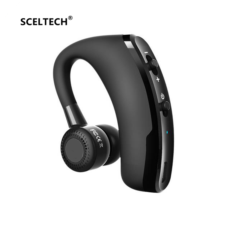 SCELTECH V9 Handsfree Business Bluetooth Headphone With Mic Voice Control Wireless Bluetooth Headset For Drive Noise Cancelling qcy chinese voice q30 business wireless earphone csr bluetooth 4 2 headphone with dual mic noise reduction headset