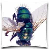 Fashion Cushion Cover For Sofa Car Decorative Big Fly Animals Pattern Pillow Case Cotton Polyester Home