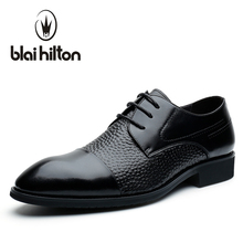 Blaibilton Formal Dress Men Shoes Oxford 100% Genuine Leather Elegant Business Classic Office Wedding Mens Casual Italian SD7103